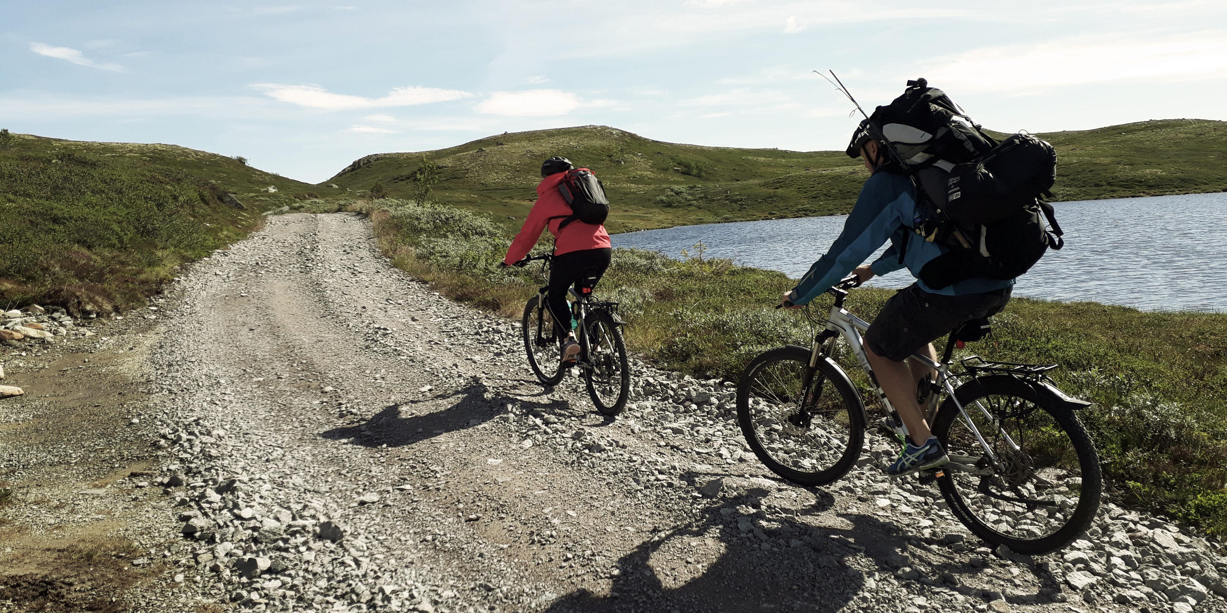 sykkling på Hardangervidda